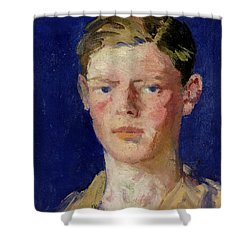 Head Of A Young Man Shower Curtain by Francis Campbell Boileau Cadell