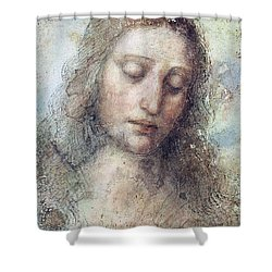 Head Of Christ Restoration Art Work Shower Curtain by Karon Melillo DeVega