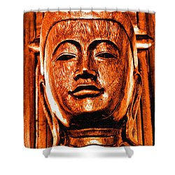 Head Of The Buddha Shower Curtain