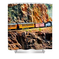 Headed Up The Grade Shower Curtain by Michael Pickett
