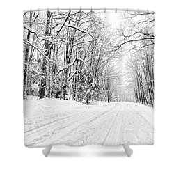 Heading For Davis West Virginia After Snow Storm Shower Curtain by Dan Friend