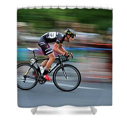 Heading For The Finish Line Shower Curtain