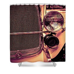 Shower Curtain featuring the digital art Headlight And Horn by Bartz Johnson