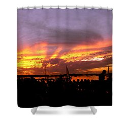 Headlights Of Sunset Shower Curtain