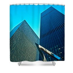 Headquarters In Midtown Manhattan Shower Curtain