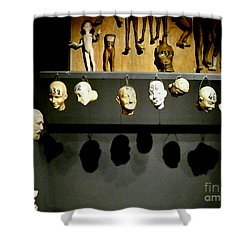 Shower Curtain featuring the photograph Heads Will Roll by Newel Hunter