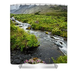 Headwaters In Summer Shower Curtain