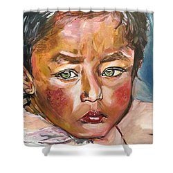 Heal The World Shower Curtain by Belinda Low
