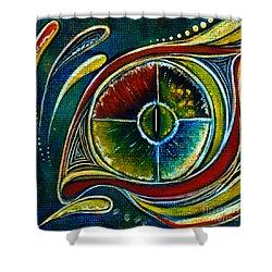 Shower Curtain featuring the painting Healer Spirit Eye by Deborha Kerr