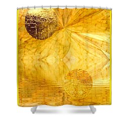 Healing In Golden World Shower Curtain