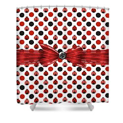 Healing Ladybugs Shower Curtain by Debra  Miller