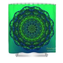 Shower Curtain featuring the digital art Healing Mandala - Spiritual Art By Giada Rossi by Giada Rossi