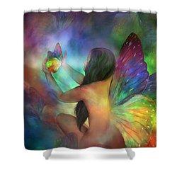 Healing Transformation Shower Curtain by Carol Cavalaris