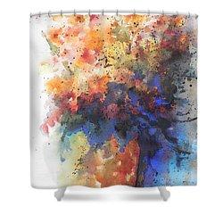 Healing With Blue Shower Curtain by Chrisann Ellis