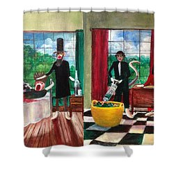 Healthcare Then And Now Shower Curtain by Randy Burns