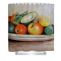 Healthy Plate Shower Curtain by Katharina Filus