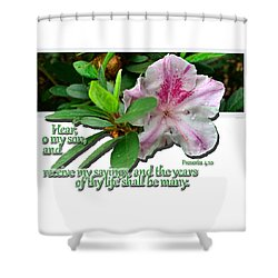 Shower Curtain featuring the photograph Hear And Receive by Larry Bishop
