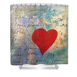 Heart #9 Shower Curtain