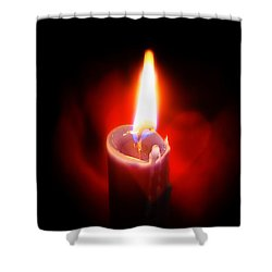 Heart Aflame Shower Curtain