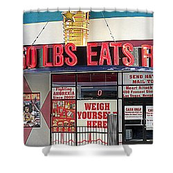 Heart Attack Grill Shower Curtain by Kay Novy