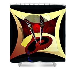 Heart Break Shower Curtain