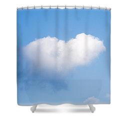 Heart Cloud Shower Curtain by Shirley Tinkham