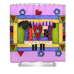 Heart For Ewe Shower Curtain