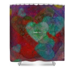 Heart Glow Shower Curtain