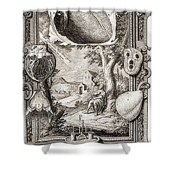 Heart Illustrated As Pumping Machine Shower Curtain by Wellcome Images