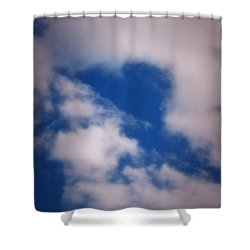 Shower Curtain featuring the photograph Heart In The Clouds by Tara Potts