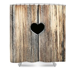 Shower Curtain featuring the photograph Heart In Wood by Brooke T Ryan