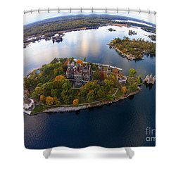 Heart Island George Boldt Castle Shower Curtain