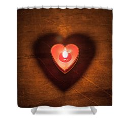 Heart Light Shower Curtain by Aaron Aldrich