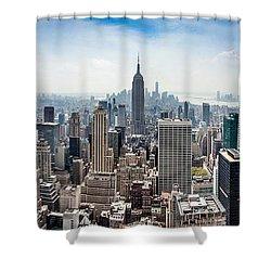 Heart Of An Empire Shower Curtain by Az Jackson