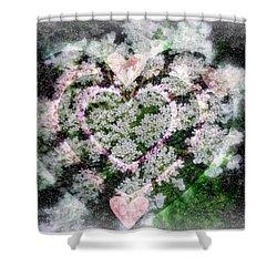Heart Of Hearts Shower Curtain by Kay Novy