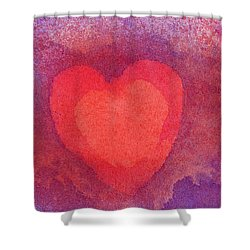Heart Of Love Shower Curtain
