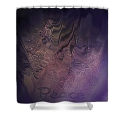 Heart Of Peace Shower Curtain by Trish Tritz