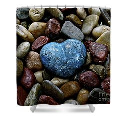 Heart Of Stone Shower Curtain by Lisa  Telquist