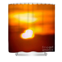 Heart Of The Day Shower Curtain by Robyn King