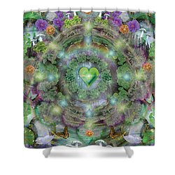 Heart Of The Forest Shower Curtain by Alixandra Mullins