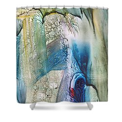 Heart Of The Matter Shower Curtain by Mickey Krause
