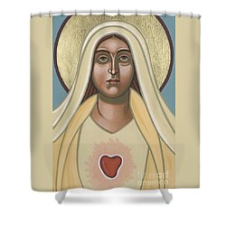 Shower Curtain featuring the painting Heart Of The Mother 252 by William Hart McNichols