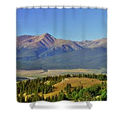 Heart Of The Sawatch Panoramic Shower Curtain by Jeremy Rhoades