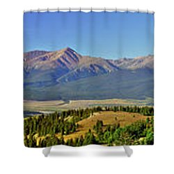 Heart Of The Sawatch Panoramic Shower Curtain