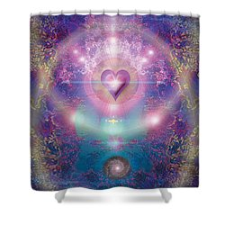 Heart Of The Universe Shower Curtain by Alixandra Mullins
