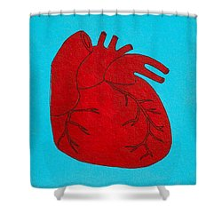 Heart Red Shower Curtain