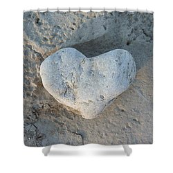 Heart Stone Photography Shower Curtain