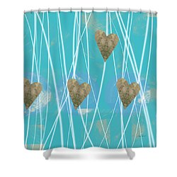 Heart Strings  Abstract Art  Shower Curtain