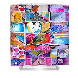 Heart Throbs Shower Curtain