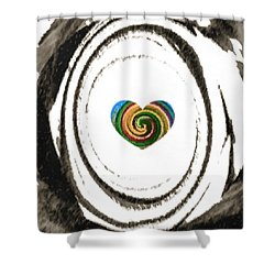 Heart Within Shower Curtain by Catherine Lott
